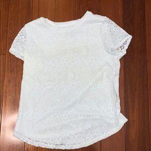 Abercrombie Kids White Flower Shirt NEVER WORN